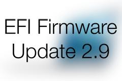 EFI Firmware Update 2.9