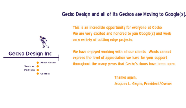 Gecko Design Google