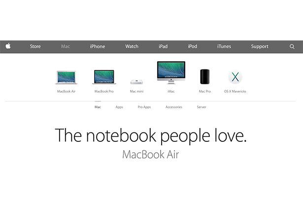 Дизайн сайта Apple стал «плоским»
