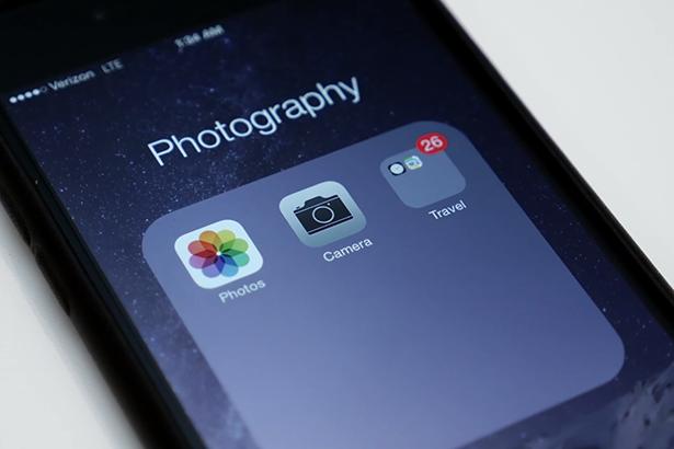 Баг в iOS 8 папка лого