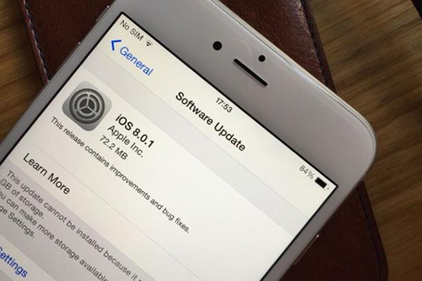 Apple выпустила iOS 8.0.1, но вскоре отозвала обновление из-за массовых проблем