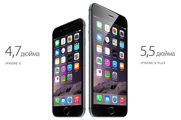 iPhone 6 в семь раз популярнее iPhone 6 Plus