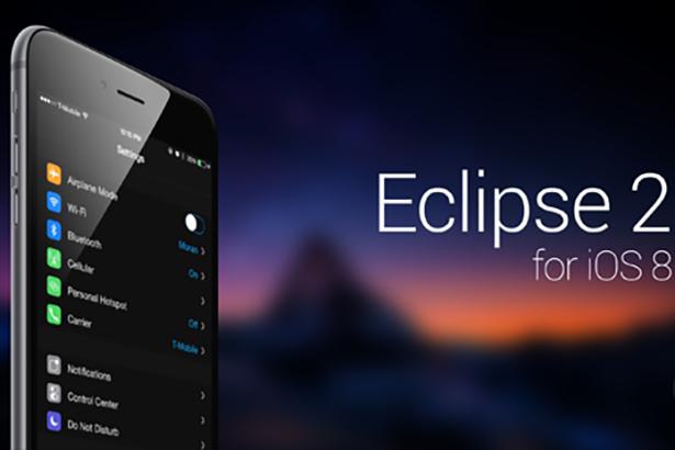 Джейлбрейк твик Eclipse 2 позволяет добавить в iOS 8 черную тему