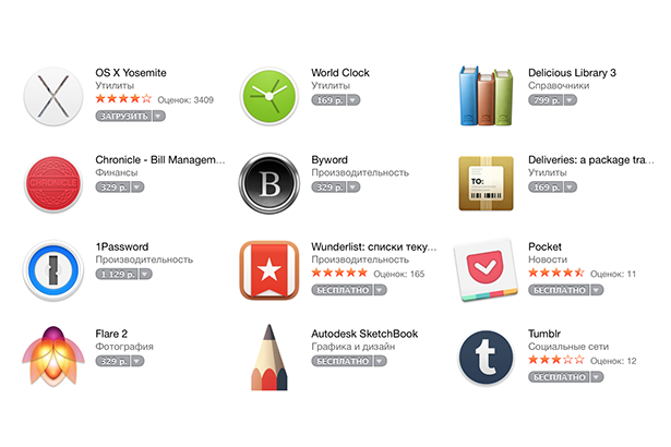 Apple обновила дизайн магазина приложений Mac App Store
