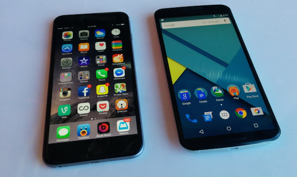 Nexus 6 iPhone 6 Plus