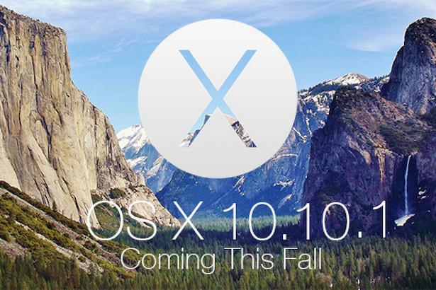 OS X Yosemite 10.10.1 стала доступна для загрузки