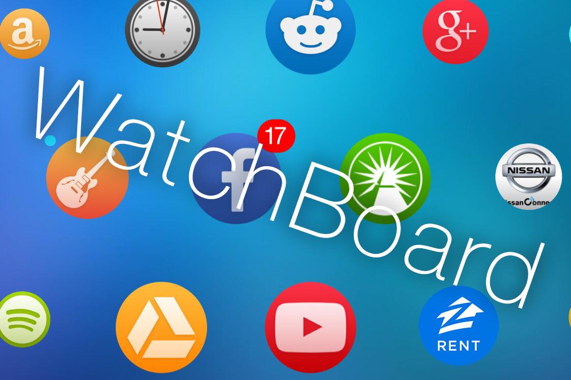 Твик WatchBoard превращает внешний вид iOS 8 в интерфейс часов Apple Watch