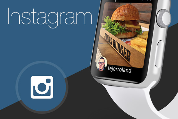 Концепт приложения Instagram на смарт-часах Apple Watch
