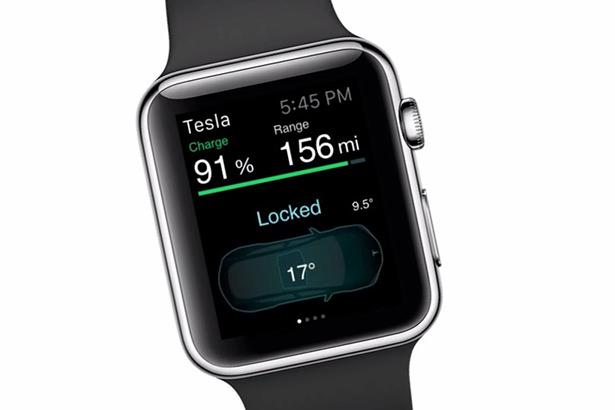 Автомобилями Tesla можно будет управлять с Apple Watch