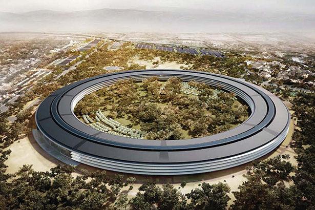 Опубликовано свежее фото с места строительства Apple Campus 2