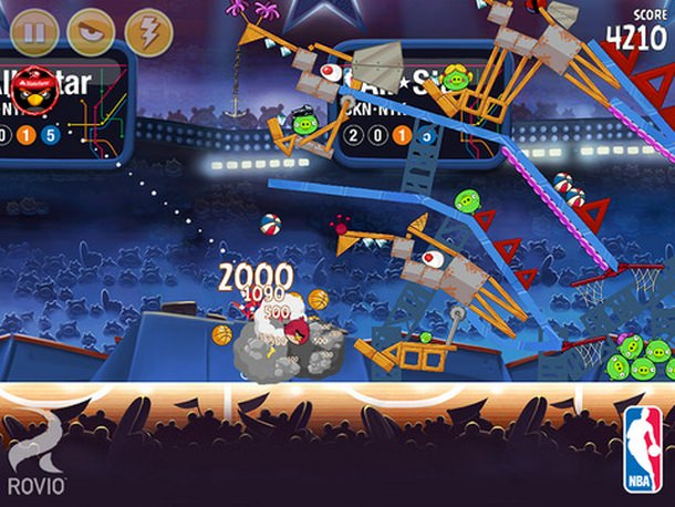 Angry Birds Seassons NBA 2015 iOS iPhone 3