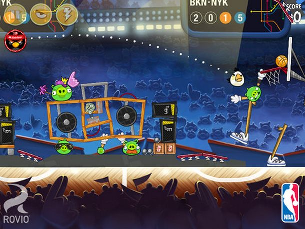 Angry Birds Seassons NBA 2015 iOS iPhone 4