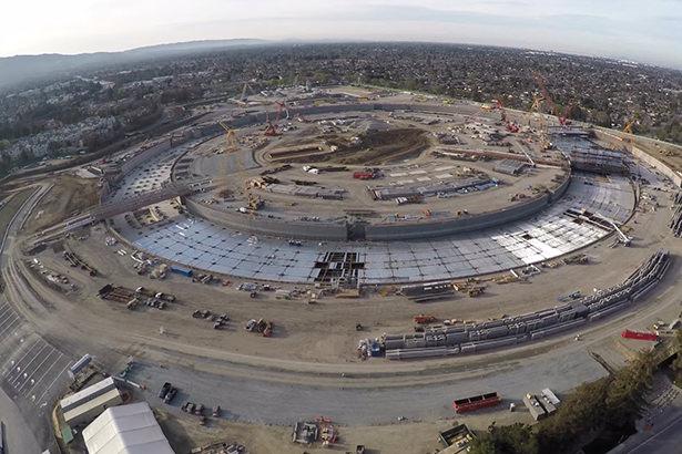 Новое видео со стройплощадки Apple Campus 2 в 4K-формате