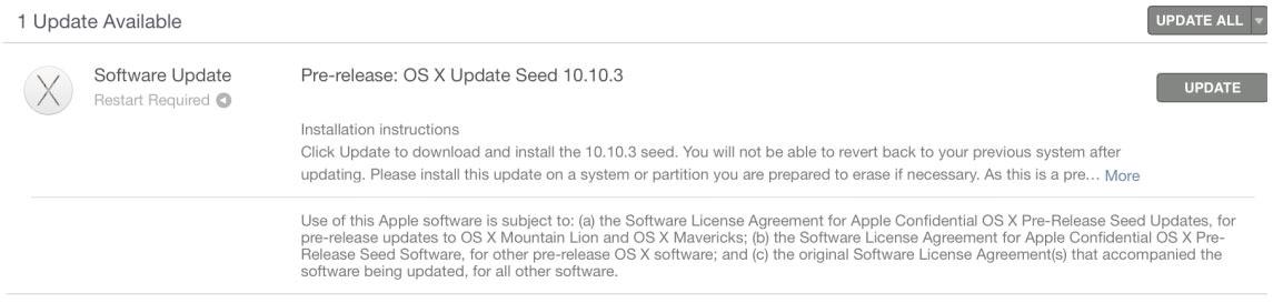 OS X Yosemite 10.10.3 2