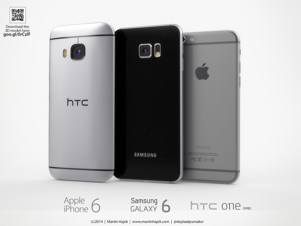 Samsung Galaxy S6 vs HTC One M9 iPhone 6 Apple vs. 2