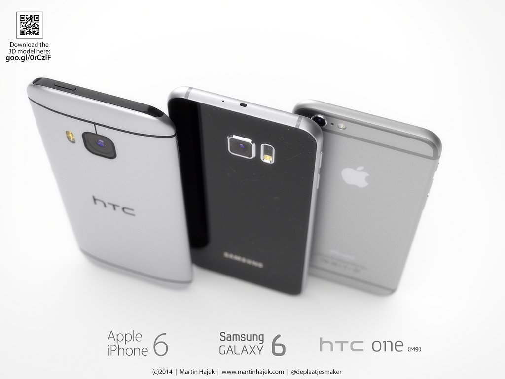 Samsung Galaxy S6 vs HTC One M9 iPhone 6 Apple vs.