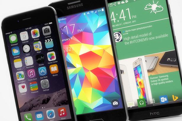 Сравнение дизайна смартфонов iPhone 6, Samsung Galaxy S6 и HTC One M9