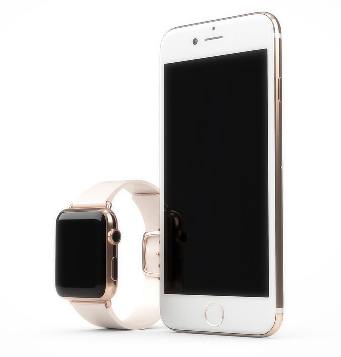 Apple iPhone 6s Apple Watch pink gold rose 4