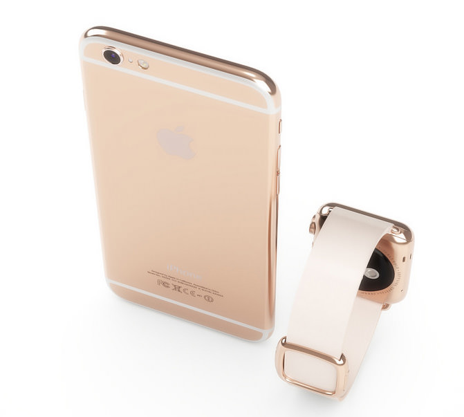 Apple iPhone 6s Apple Watch pink gold rose 5