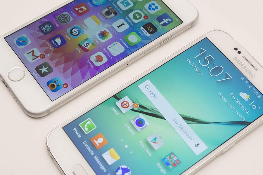 Время автономной работы смартфона Samsung Galaxy S6 оказалось меньше, чем у Galaxy S5
