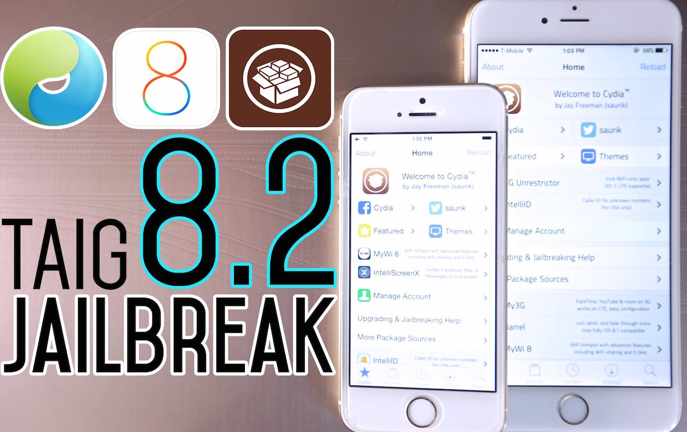 TaigTeam Jailbreak Jail iOS 8.2 8.3 iOS 9 Apple Iphone ipad gade