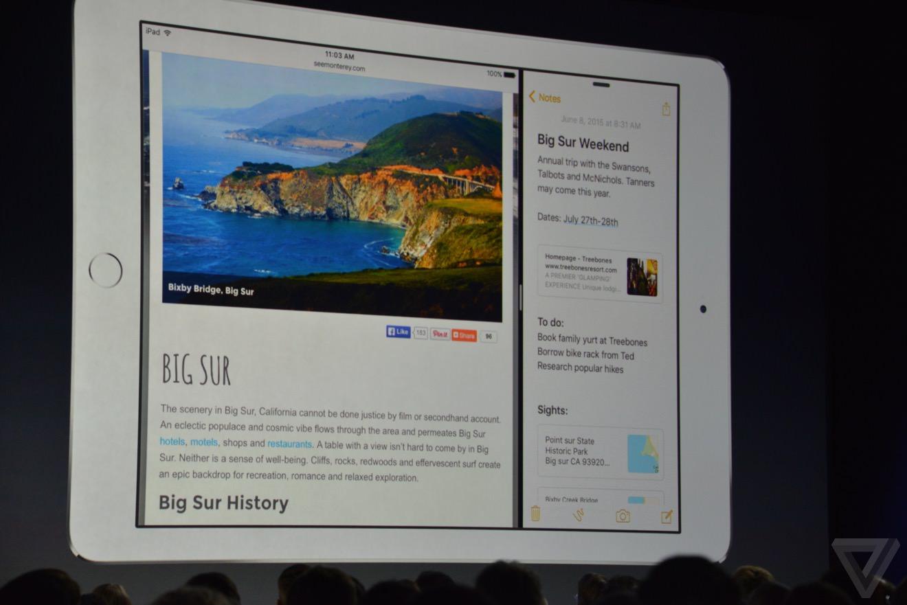 Apple многооконность iPad AIr