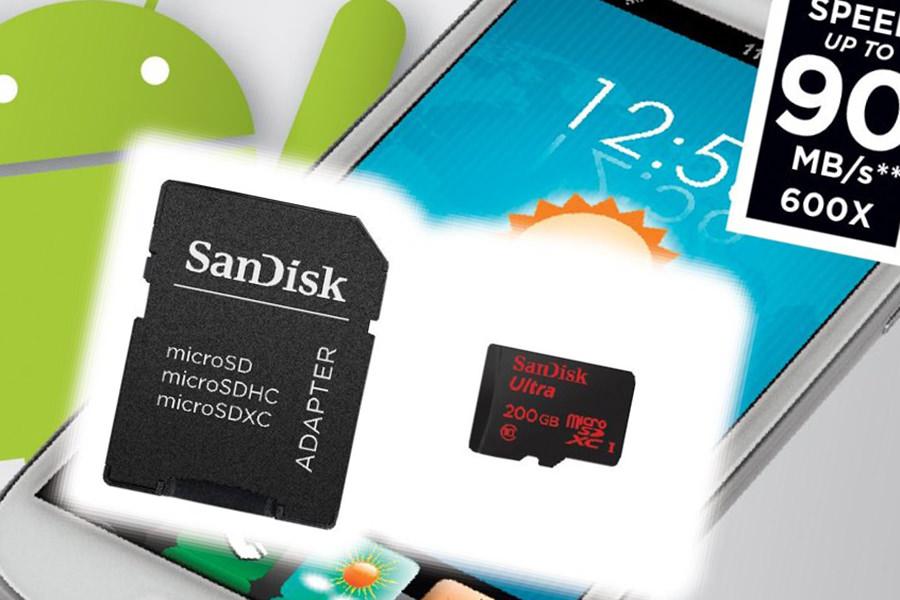 SanDisk начала продажи первой в мире microSD карты-памяти объёмом 200 Гб