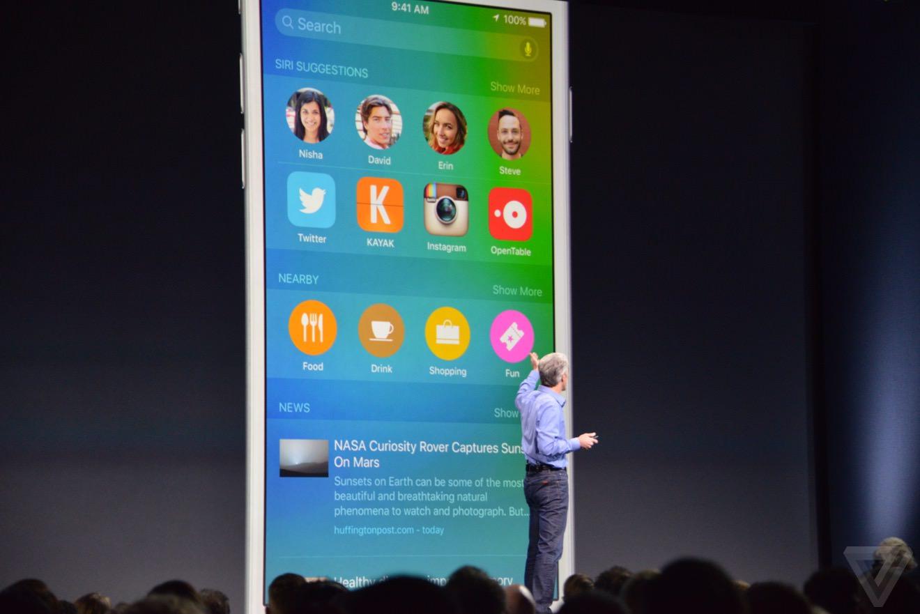 iOS 9 WWDC 2
