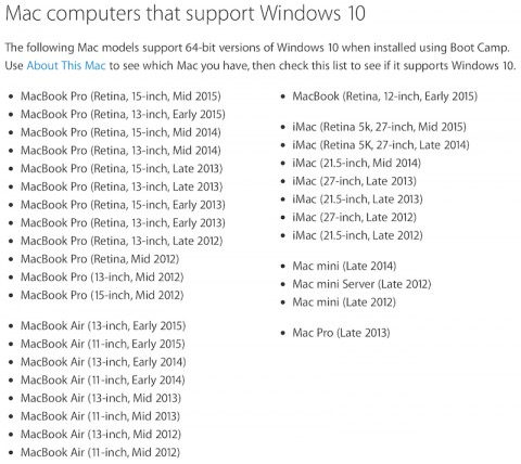 Windows 10 Mac Boot Camp 6 0