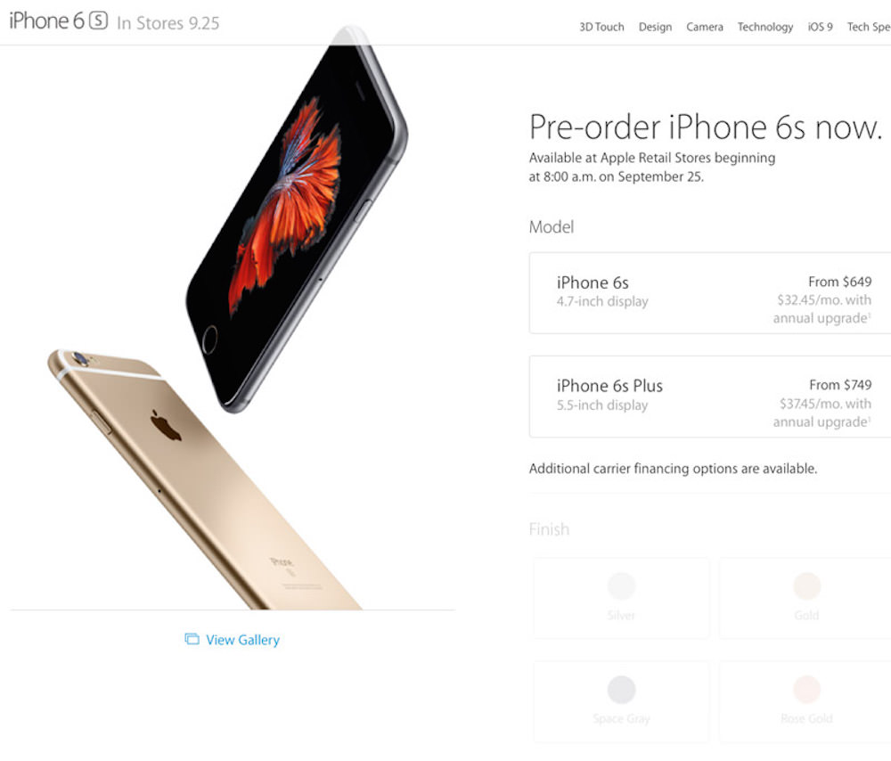 iphone 6s plus russia pre-order buy 2