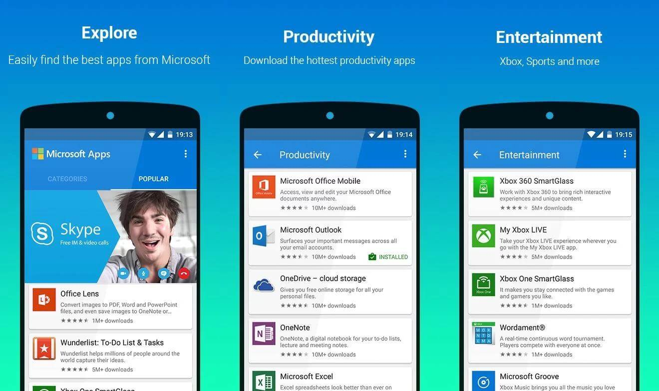 Microsoft Apps Android google play download