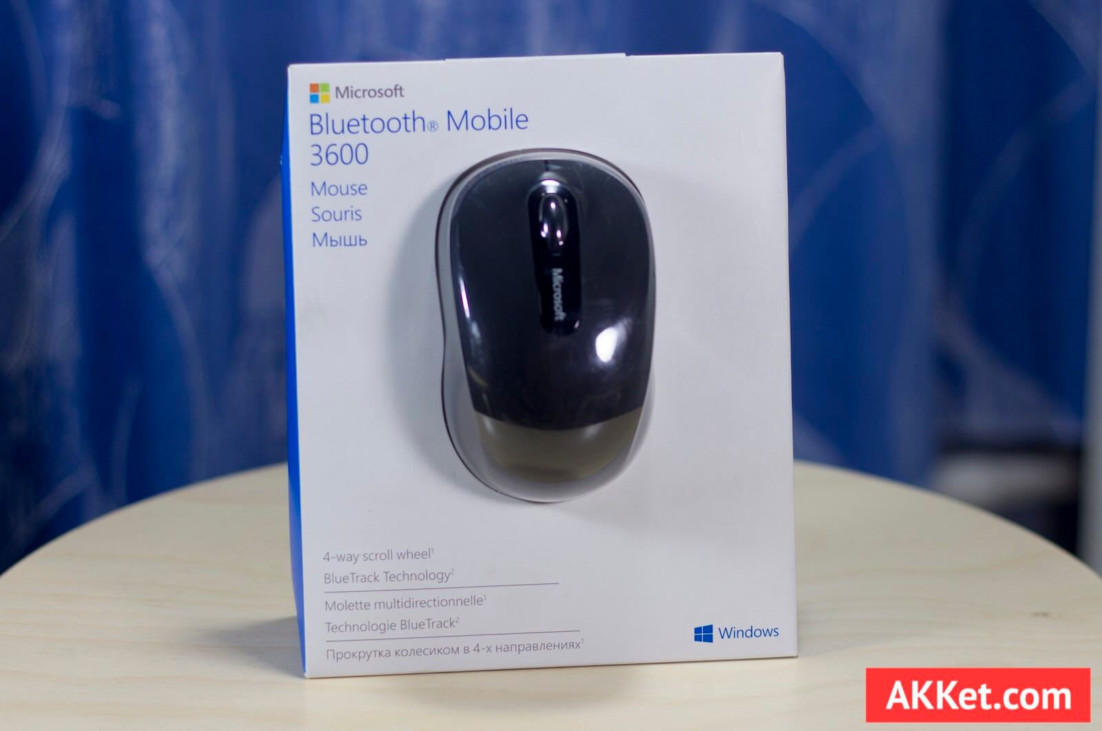 Обзор Bluetooth мыши Microsoft Mobile Mouse 3600 в связке с