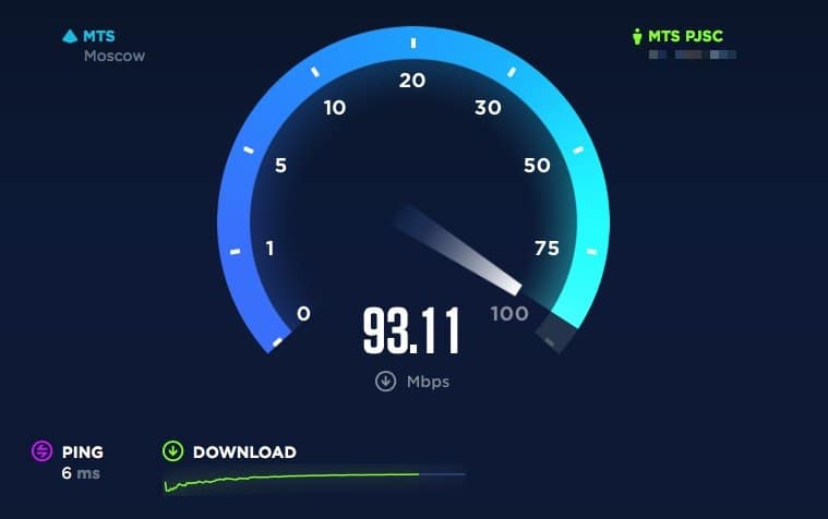 Speedtest.net HTML5 flat