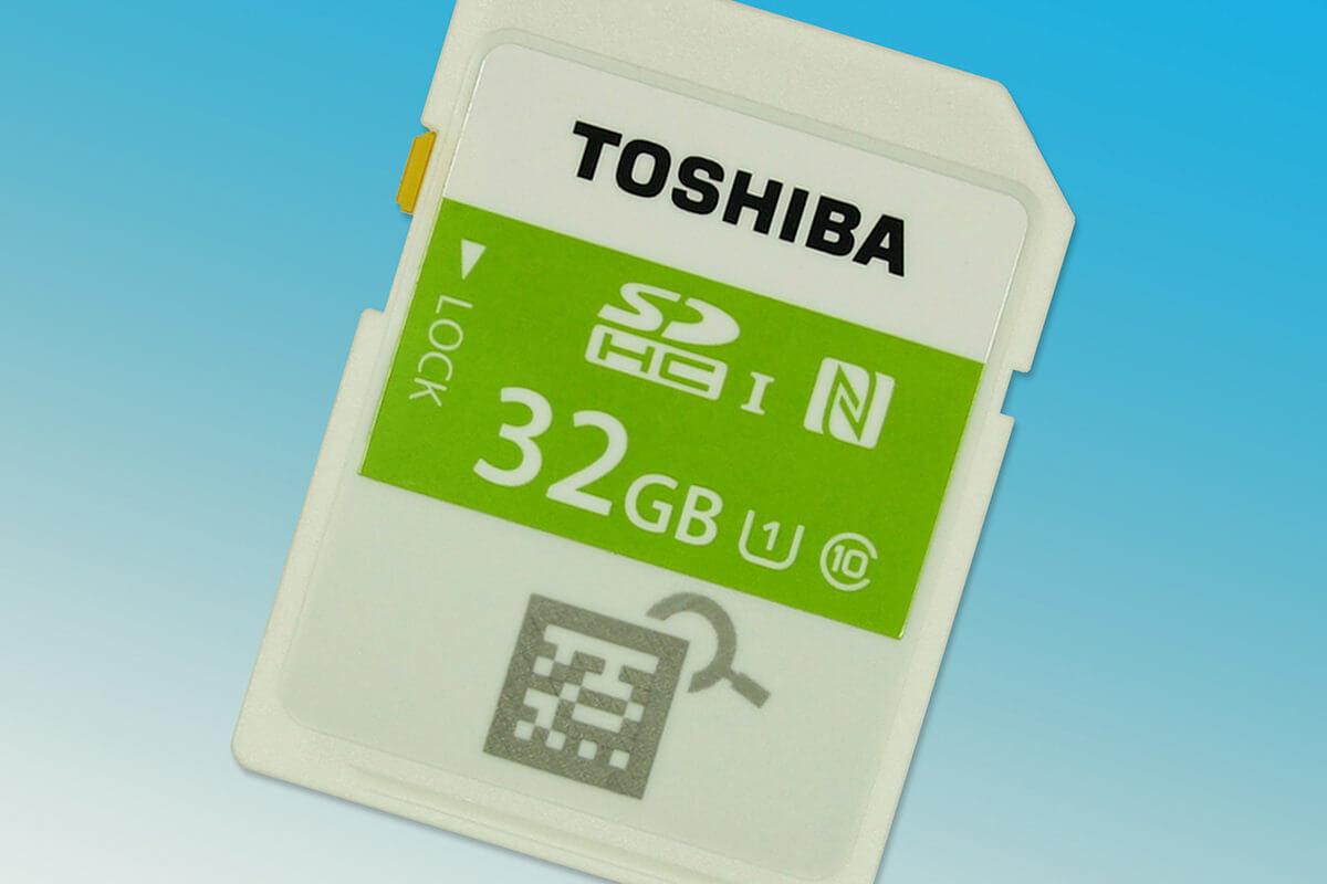 Toshiba привезла карты памяти с поддержкой NFC в Россию