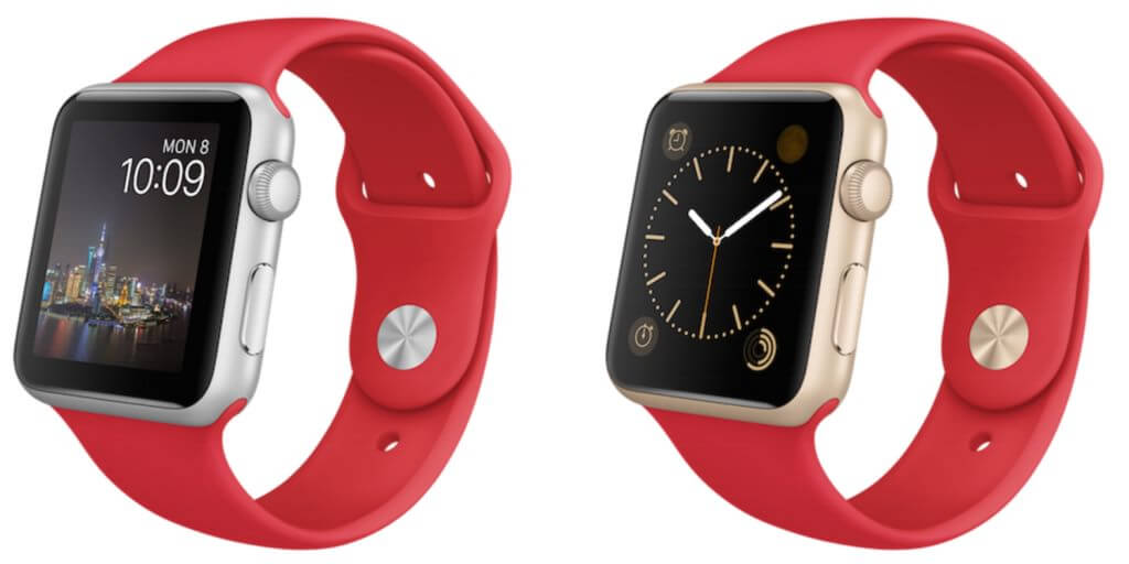 Apple Watch Red edition gold space silver 2