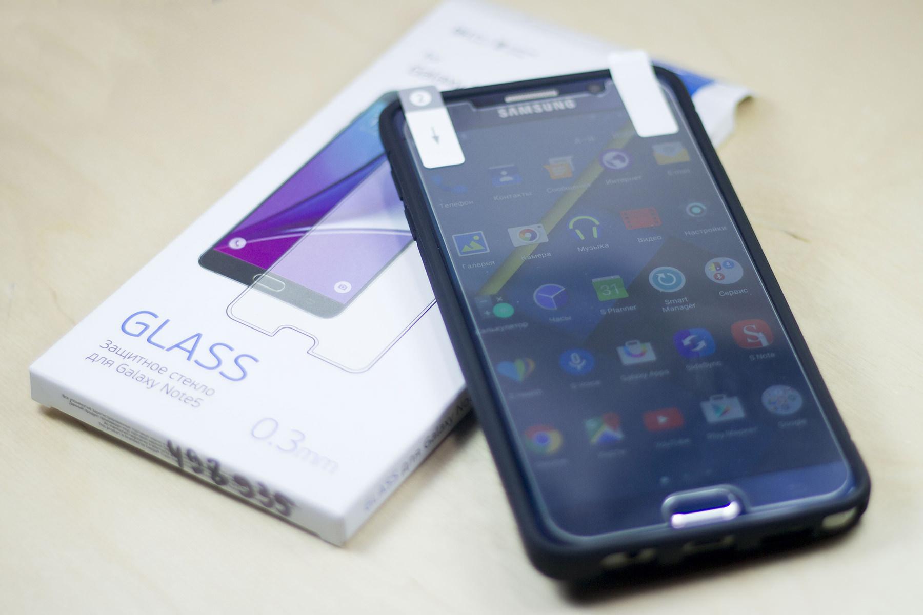 Обзор защитного стекла Deppa Glass для Samsung Galaxy Note 5
