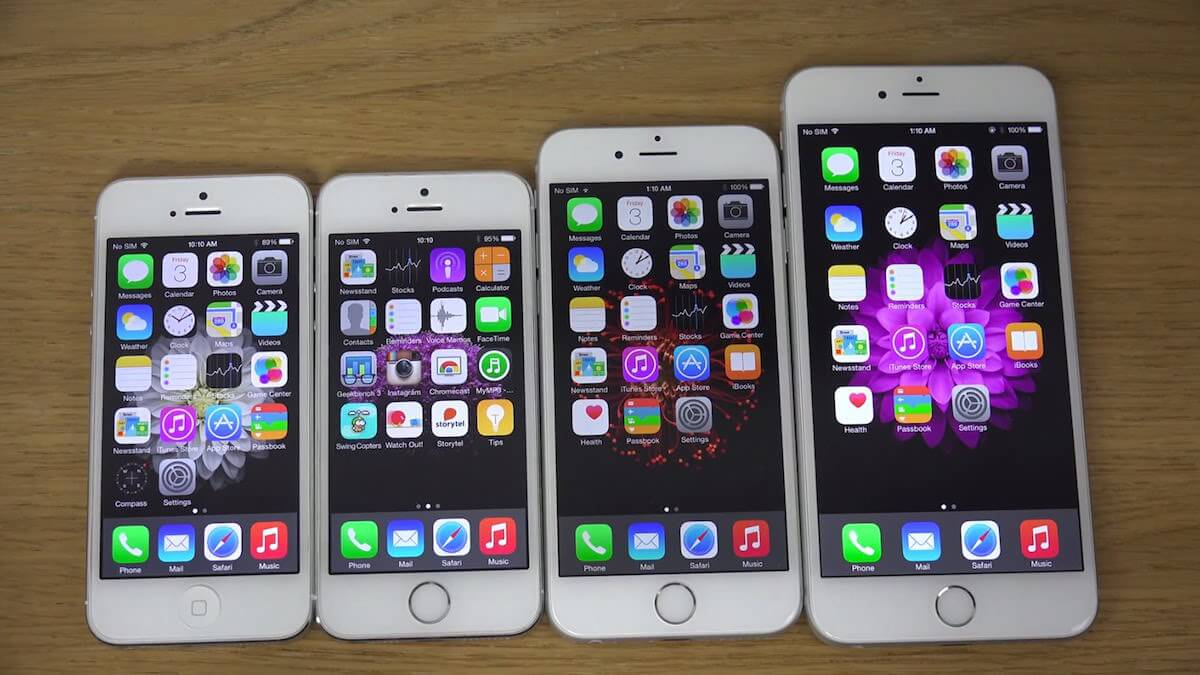 iPhone 6s Plus iPhone 6 Plus iPhone 5s iPhone 5 iPhone 4s apple 3