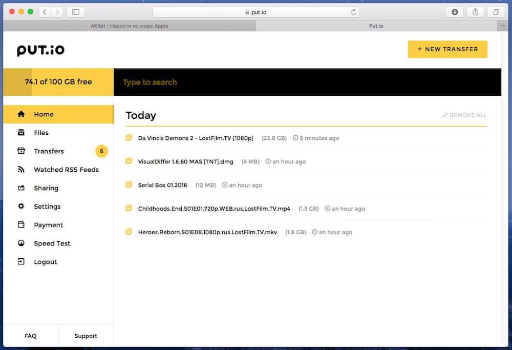 review torrent online download put.io 3
