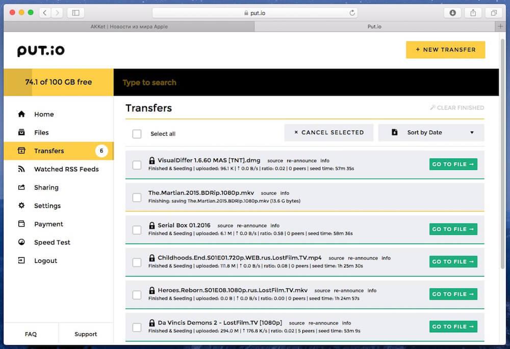 review torrent online download put.io 5