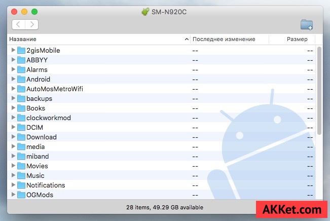 Android File Transfer Music Guide Mac OS X 2