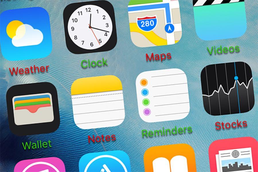 Твик MagicLabels делает названия приложений и папок в iOS 9 цветными