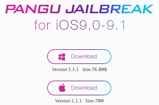 Pangu Jailbreak iOS 9.1 iOS 9.2.1 iOS 9.3 iPhone iPad download hack