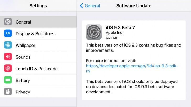 iOS 9.3 beta 7 1