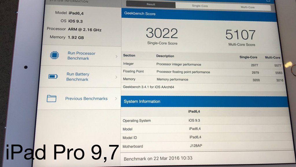 iPad Pro 9,7 2Gb Apple A9x