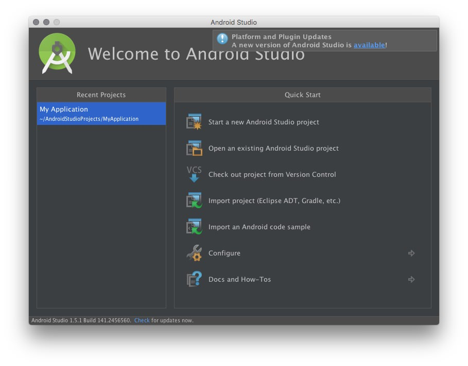 Android Studio 2.0 2