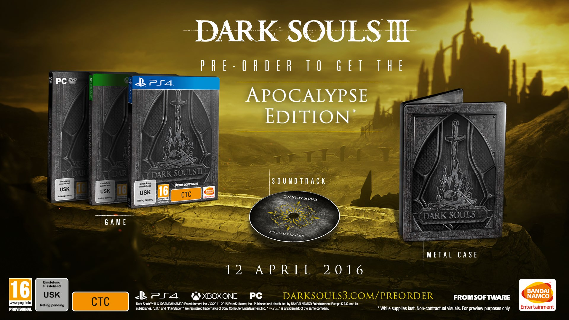 Dark Souls 3 PC PS4 Xbox One