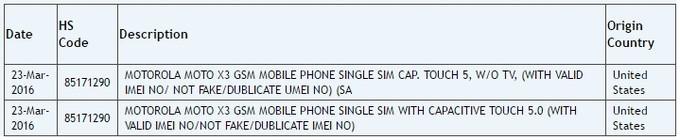 Motorola Moto X3 2