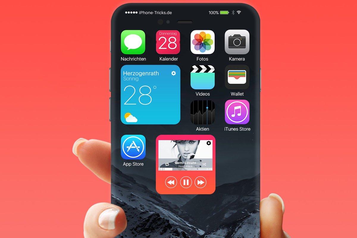 Реалистичный концепт операционной системы iOS 10 и watchOS 3.0