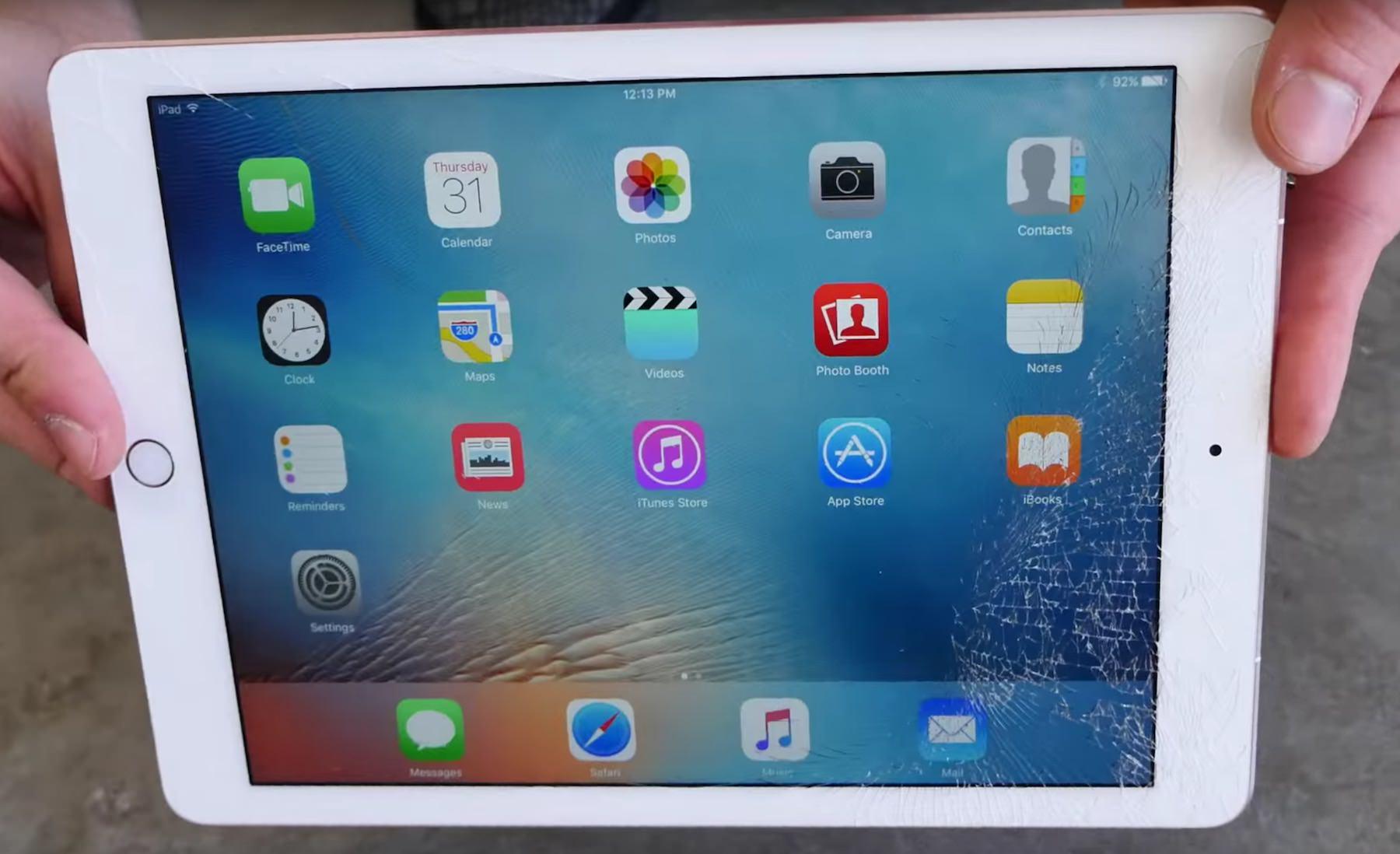 iPad Pro drop test bend test