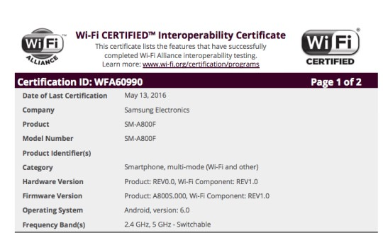 Samsung Galaxy A8 Android 6.0.1 Marshmallow 2